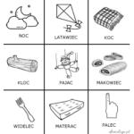 Logopedyczne kółko i krzyżyk z głoską [c]