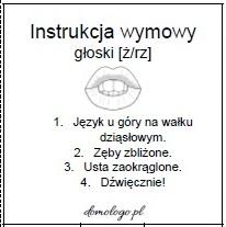 instrukcja wymowy głoski [ż/rz]