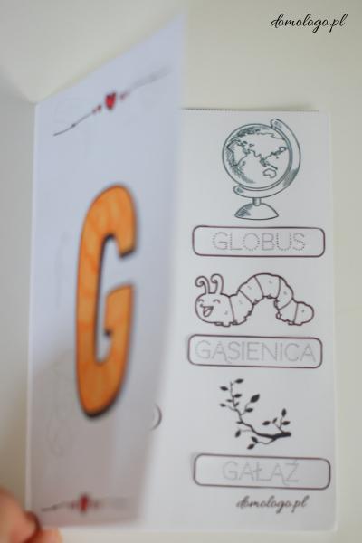 książeczka z głoską [g] mowa bezdźwięczna pomoce do zajęć