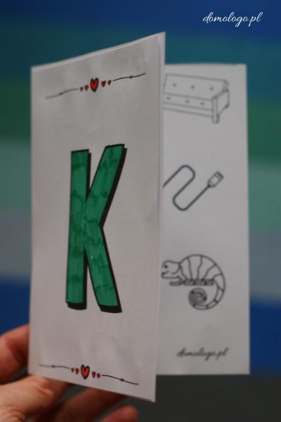 książeczka z głoską [k] pomoce logopedyczne do druku
