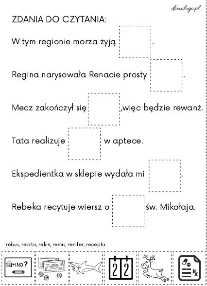 zdania do czytania [re] reranie